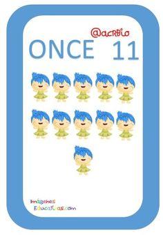 Tarjetas de Números Inside Out 1-20 (11) Preschool Math Activities, Card Games