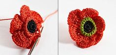 Crocheted Poppy Tutorial from Russia