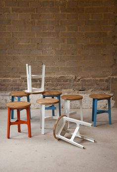 Construct stool has gone into production with British manufacturer Naughtone