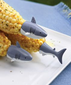 Another great find on #zulily! Shark Corn Holders - Set of Eight #zulilyfinds