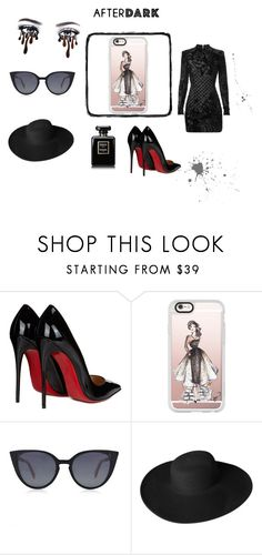 """""""dance with the devil"""" by vildana-dezic ❤ liked on Polyvore featuring Christian Louboutin, Casetify, Fendi, Dorfman Pacific and Balmain"""