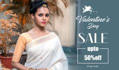 Not many days left for the D- Day! Are you ready, if not, don't fret, we help you get ready for #ValentinesDay! All you need to do is click on your favorite #saree and we will take care of the rest, right from the #blousestitching and having it delivered to your door step! Also avail #valentinesspecialoffer of upto 50% off!  #Valentinesdaysale #Onlineshopping #Handloomsarees #Discount #Shatika