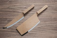 Maple Knive Set Ottawa-based design service consultancy The Federal designed this beautiful set of maple wood body knives. More images of the knive set on WE AND THE. Design Blog, Küchen Design, Wood Design, Interior Design, Bedroom Minimalist, Wood Knife, Wooden Kitchen, Kitchen Modern, Rustic Kitchen