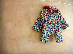 Harlequin children Dress Costume fancy dress cheerful by PABUITA, €40.00