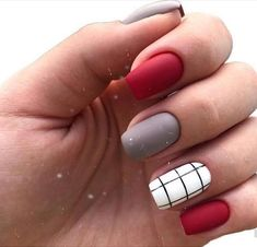 42 Charming red Nail Art Designs To Try This summer nails;n Nail arts 42 Charming red Nail Art Designs To Try This summer nails;n Nail arts Cute Acrylic Nails, Cute Nails, My Nails, Cute Simple Nails, Line Nail Designs, Art Designs, Design Ideas, Latest Nail Designs, Red Nail Designs