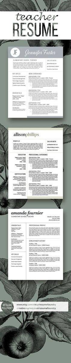 82 best Teacher Resume Templates images on Pinterest | Resume ...