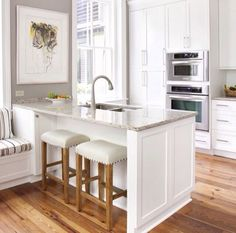 Great layout small kitchen white.