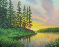 """Saskatchewan Summer"" German, Clouds, Sky, Summer, Painting, Deutsch, Heaven, Summer Time, German Language"