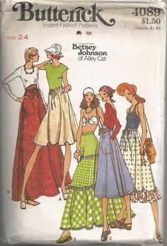 1970s Cute Skirt with Varied Waistbands and Lengths by Redcurlzs, $20.00