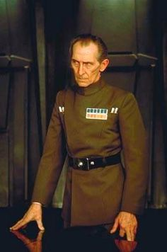 """The greatest special effect in """"Rogue One"""" isn't a planet being wiped out or the whizzing dogfights of the rebels' X-wing fighters. What's really breathtaking about the new """"Star Wars"""" movie is the… Star Wars Rpg, Star Trek, Star War 3, Death Star, Imperial Officer, Peter Cushing, Han And Leia, Star Wars Episode Iv, Star Wars Models"""