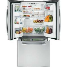 GE 22.1 cu. ft. French Door Refrigerator in Stainless Steel-GNS22ESESS at The Home Depot
