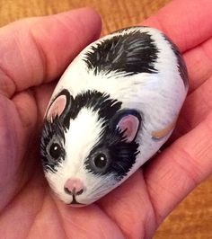 Mouse hand painted pebble