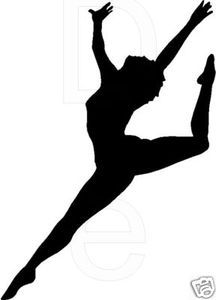 Dance silhouette Wall Decal Vinyl Sticker Decor Word Letters