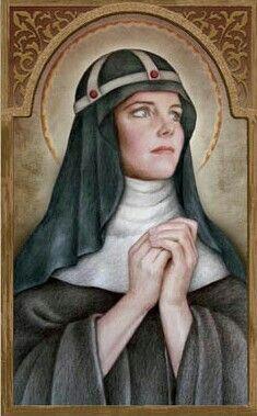 Saint Bridget of Sweden Feast Day: July 23, Patronage: Europe, Sweden, Widows Art Portraits of Saints