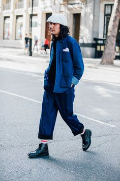 London Fashion Week Men's Street Style - Page 2 Hipster Outfits, Hipster Fashion, Cool Street Fashion, Trendy Fashion, Trendy Clothing, Trendy Style, Dope Outfits, Men's Style, Men's Fashion