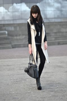 Loving the long vest to change things up | It's not that deep...