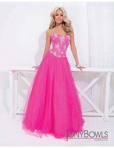 Tony Bowls 114532 Dress - Floral embellished ball gown by Tony Bowls Le Gala  #macktak #tonybowls #promdresses #terani #nyc #prom