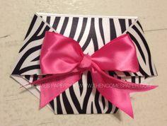 Zebra Diaper Baby Shower Invitation
