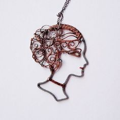Eirene Goddess of Peace Mixed Metal Statement от sparkflight:
