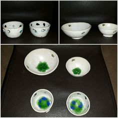 Schalen Ton und Glas