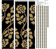 18 around tubular bead crochet rope pattern Crochet Bracelet Pattern, Crochet Beaded Bracelets, Bead Crochet Patterns, Bead Crochet Rope, Beaded Crafts, Beading Patterns, Beaded Jewelry Designs, Bead Jewellery, Beaded Banners