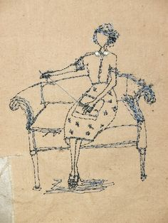 These embroidery works are amazing beautiful. Betty Makes Big Stitches ~ by artist Michelle Holmes