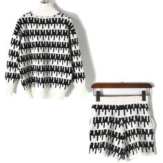 IN Trendy Black and White! ...   http://www.towntiger.store/products/black-and-white-knitting-sweater-tops-and-shorts-2-piece-set-women-knitwear-knits-shorts?utm_campaign=social_autopilot&utm_source=pin&utm_medium=pin