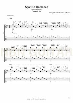 Spanish Romance (Sheet Music & Tabs)