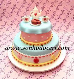 Bolo Chá de bonecas! curta nossa página no Facebook: www.facebook.com/sonhodocerj