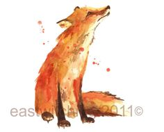 FOX Watercolor Print