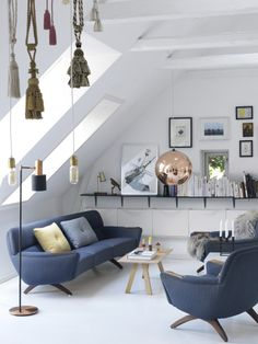 Danish Interior with pops of soft colour
