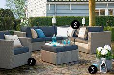 Heerlijk genieten in de tuin met deze lounge tuin meubel sets. #tuin #tuinmeubels