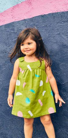 Shop Tea Collection's Baby Girl Jackfruit Baby Dress!