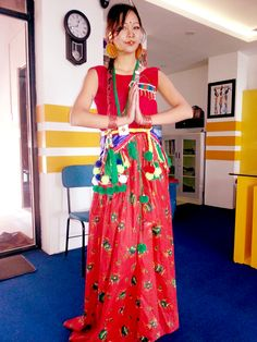 Sanila Manadhar (Sunuwar Kirat culture fashion, Sunuwar dress Art, Design & Fashion Presentaion) sunuwar dress