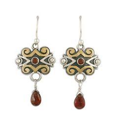 Cascade Earrings--interesting Eastern feel to the design