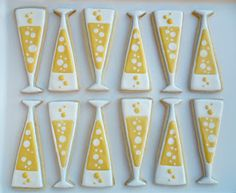 New year cookies or brunch/champagne cookies - use baseball bat cutter?
