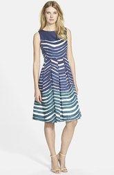Lafayette 148 New York 'Zoe' Print Sleeveless Silk Fit & Flare Dress
