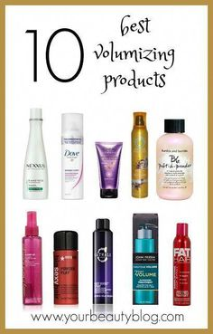 If you want to add volume straight hair, try these hair volume tricks. Add volume to hair and get volume in hair with these hair products and tricks. Includes several tricks to creating volume in hair. Give hair volume with these volumizing products. Best Volumizing Hair Products, Best Hair Products, Hair Volume Products, Best Volumizing Mousse, Best Volumizing Shampoo, Drugstore Shampoo, Hair Thickening, Drugstore Beauty, Beauty Products