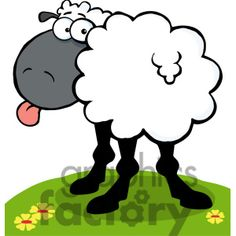 Royalty-Free 102672-Cartoon-Clipart-Funky-Black-Sheep-Sticking-Out ...