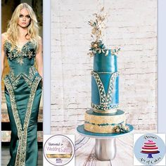 Veena's Art of Cakes -Zuhair Murad Collaboration inspired Cake