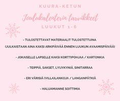 Taideluontokasvatus: Tulossa pian: Kuura-ketun joulukalenteri! Tulossa Pian
