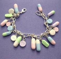 Pill Medicine Drug Charm Bracelet nurses medical pharmacists