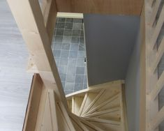 zoldertrap Small Staircase, Foyer Staircase, Entry Foyer, Staircases, Loft Stairs, Adobe House, Attic Rooms, Interior Inspiration, Interior Ideas
