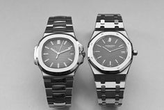 Patek Philippe Nautilus caliber 324 SC vs. Audemars Piguet Royal Oak caliber 2121. Gérald Genta's master pieces. Blood is thicker than water!