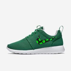 best sneakers 0098b 1266f Custom Nike Roshe Cannabis, cannabis, weed, 420 design, cannabis plant,  hand painted with gold speckles. Nike Shoes ...
