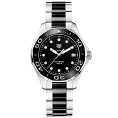 TAG Heuer Aquaracer 300m Steel & Black Diamond Dot Dial Ladies Watch