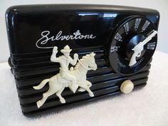 Vintage 1950 Old Silvertone Western Cowboy Antique Mid Century Gun Tuning Radio | eBay