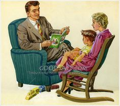 ✿Family Day✿ Father Reads to Me