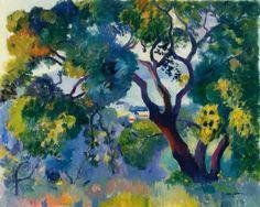 アンリ・マンギャン『サン=トロペ風景』(1905年)  木の描き方、というものについて考えさせる絵があった。  マンギャンの『サン=トロペ風景』は、風景とはいうものの、実際には巨大な木が画面のほとんどを占めている。さて、サン=トロペという地名は聞き覚えはあるけれども、どこだ...