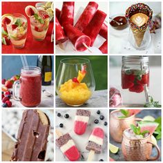 Refreshing Summer Drink and Dessert Recipes Plus Create Link Inspire Party Infused Water Recipes, Fruit Infused Water, Summer Dessert Recipes, Delicious Desserts, Drink Recipes, Summer Treats, Summer Fruit, Brownies, Chocolate And Vanilla Cake